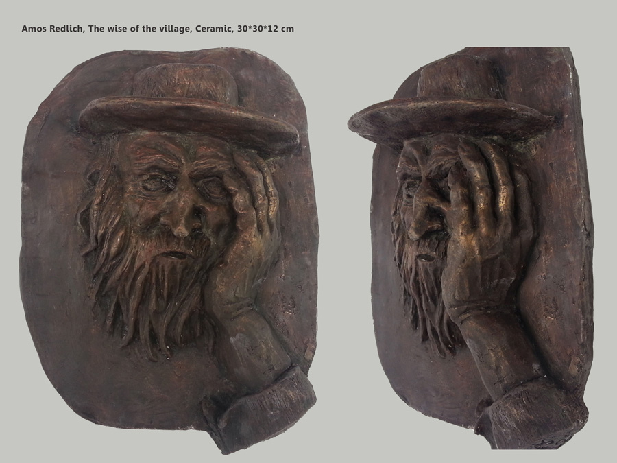 The wise of the village, Bronze, Tales studio by Amos Redlich