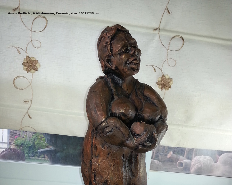Yidishe Mom Clay Tales studio by Amos Redlich